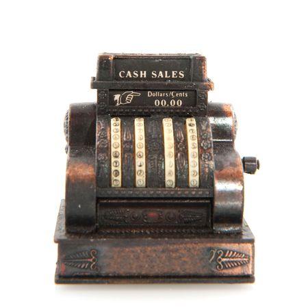 copper old cash register isolated over white Reklamní fotografie