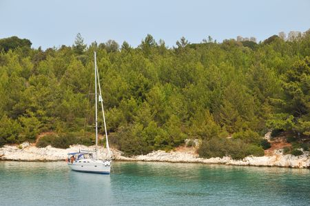 sailing yacht: Sailing yacht in Greek water