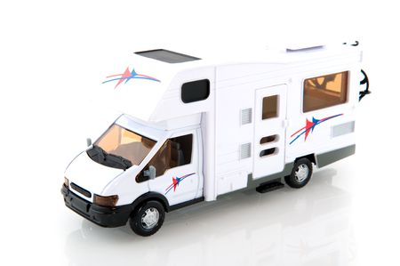 camper: Mobile home isolated over white Stock Photo