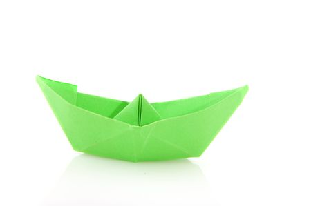 Paper boats in different colors Stock Photo - 5218784