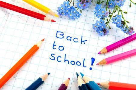 ir al colegio: No te olvides de m� para volver a la escuela Foto de archivo