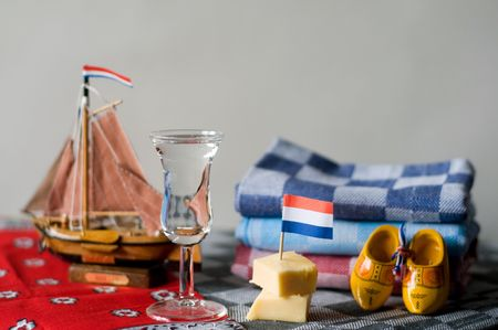 fishery products: Typical Dutch products as drink, souvenirs and cloths