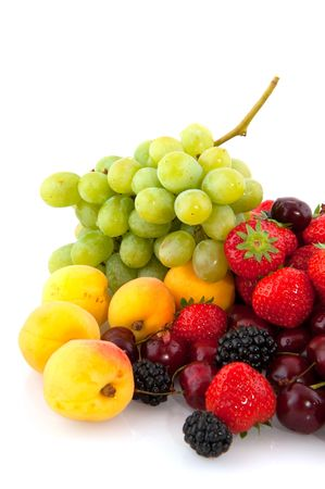 brambles, strawberries, grapes and plums photo