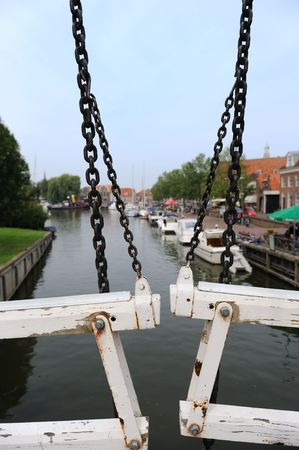 View from the old historic bridge in Enkhuizen Holland Stock Photo - 5570950