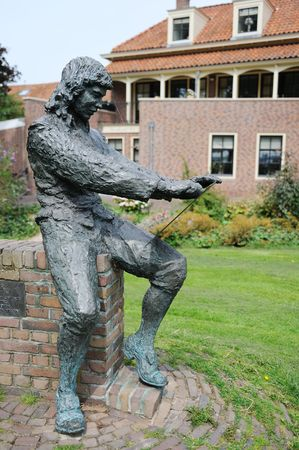 paulus: Statue of the famous painter Paulus Potter in Enkhuizen Holland
