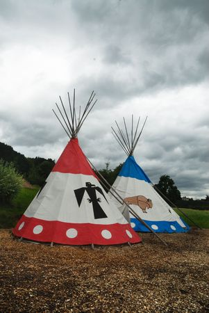 tipi: Two tipi for Indian camp