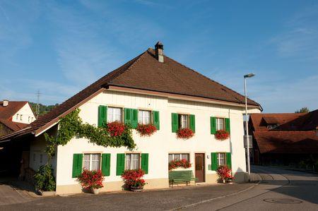 typical: Typical house in Herznach Switzerland