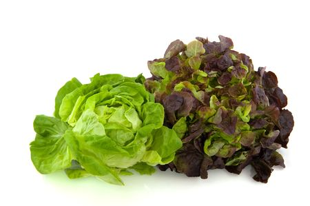 Lettuce assortment crisphead and red oak leaves Zdjęcie Seryjne