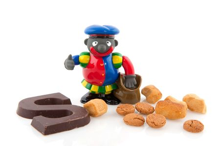 The attendant from Sinterklaas Black Piet with traditional candy Stock Photo - 5659972