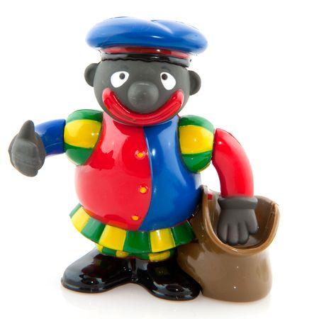The attendant from Sinterklaas Black Piet isolated over white Stock Photo - 5659855