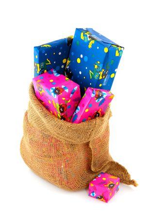 Presents in the bag from Dutch Sinterklaas Stock Photo - 5659841