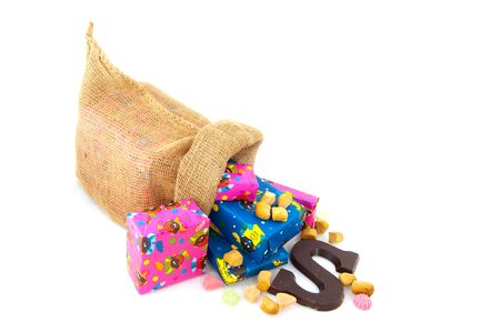 Presents and candy in the bag from Dutch Sinterklaas Stock Photo - 5659911