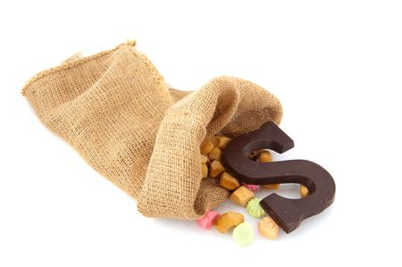 Many traditional candy in the bag from Dutch Sinterklaas Stock Photo - 5659963