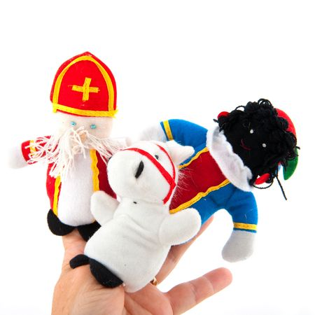 Finger puppets from Sinterklaas his horse and his attendant black piet Stock Photo - 5659936