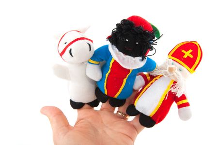 Finger puppets from Sinterklaas his horse and his attendant black piet Stock Photo - 5659820