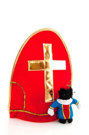 Mitre with cross from Sinterklaas isolated over white Stock Photo - 5659969