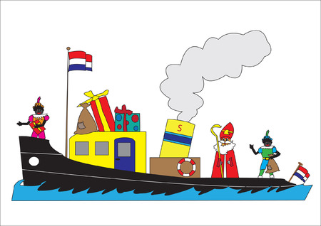 The boat of the Dutch Sinterklaas Vector