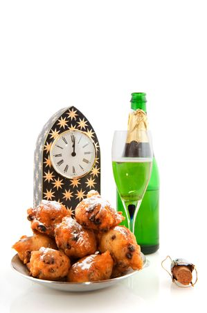 Dutch new years eve with traditional oliebollen