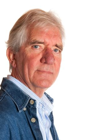 Portrait of a friendly elderly man in studio Stock Photo - 5740514