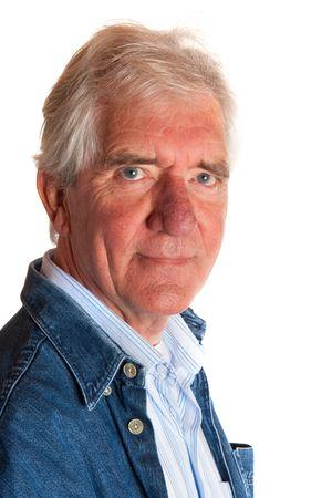 Portrait of a friendly elderly man in studio Stock Photo - 5740543