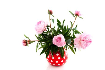 speckles: Bouquet with Common Peony in speckles vase