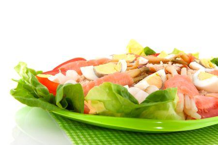 salmon salad with asparagus and eggs Stock Photo - 5919719