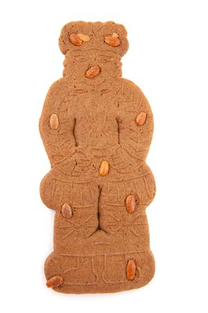 Speculaas doll for Dutch Sinterklaas isolated over white photo
