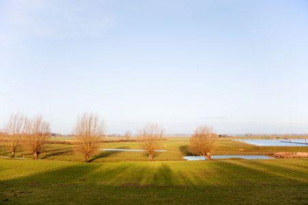 ijssel: River landscape in Holland at the Gelderse IJssel