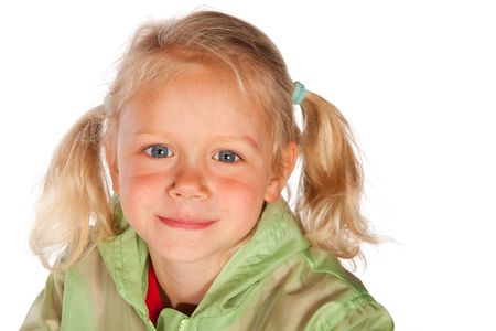 jacked: Portrait of an young blond little girl