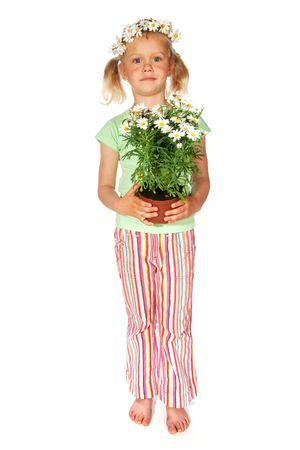 tailes: Bambina con i fiori di dare in omaggio