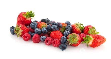 Fresh diversity of fruit isolated over white Stock Photo - 6351971