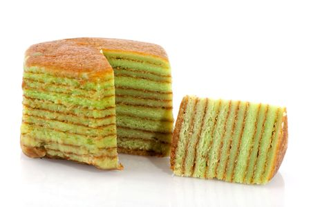 Indonesian sweet Layer cake as traditional food photo