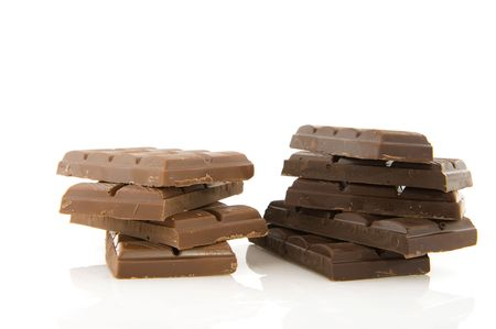 pieces of chocolate bars in dark and milk Stock Photo - 6509098