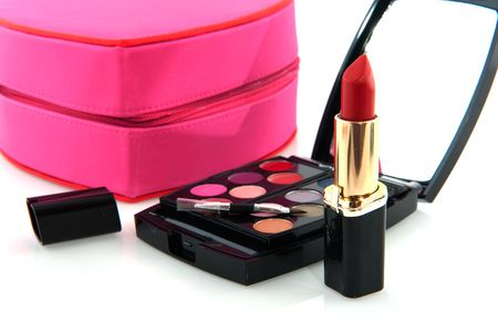Make up with eye shadow and lipstick Stock Photo - 6584672
