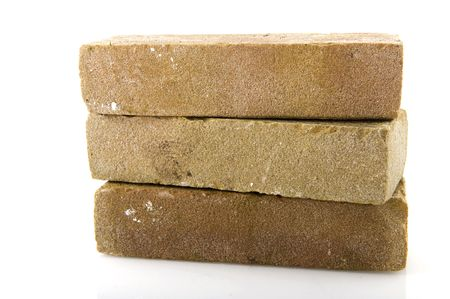 Three stacked bricks to build a house or wall Stock Photo - 6611882