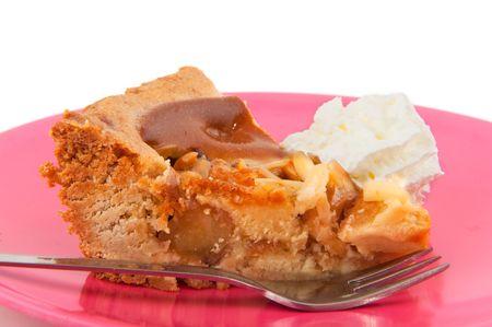 tasteful: Tasteful piece of apple pie with whipped cream
