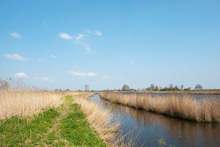 Dutch river the Eem in nature landscape