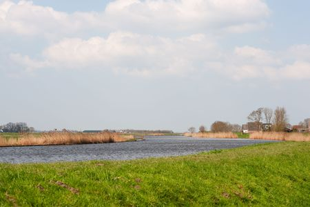 Dutch nature river landscape with the Eem