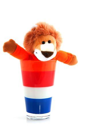 als: Dutch soccer lion als a sport symbol with flag