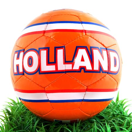 dutch: Dutch soccer ball for the world championship in grass