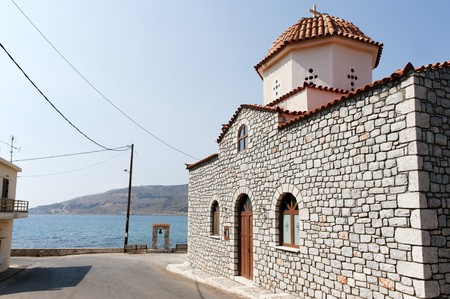 mani: Church in Greece Ithylo on Mani pensula