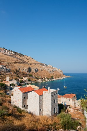 fishingboats: Traditional Mani village Ithylo in Greece at the coast