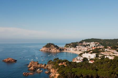 Spanish coast at the Costa Brava with village Tossa de Mar photo