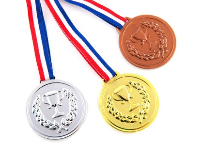Bronze silver and golden medals for the winners Stock Photo - 7377168