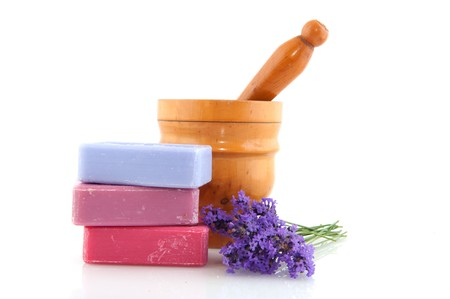 Colorful soap in different colors from the Provence Stock Photo - 7376721
