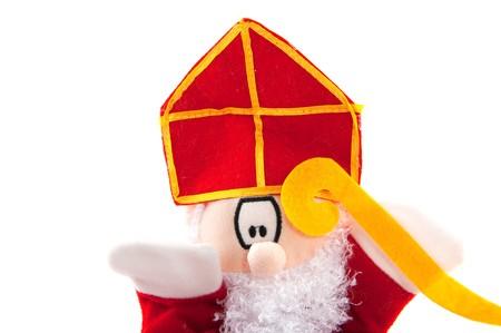 sinterklaas: Funny niederl�ndischen Sinterklaas Puppet hintrgrund isoliert wei�