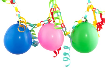 blowed: Party garland with festive streamers and colorful balloons