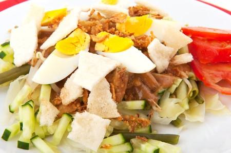 gado: Indonesian vegetarian food Gado Gado with egg