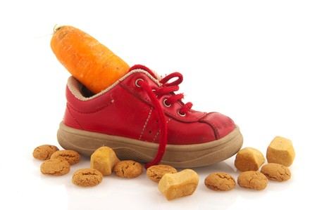 Shoe with carrot for the horse of Sinterklaas