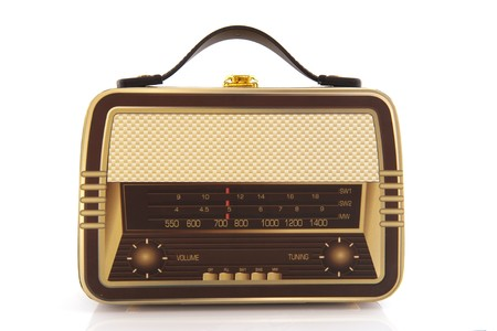 suitcase in the shape of an old radio photo